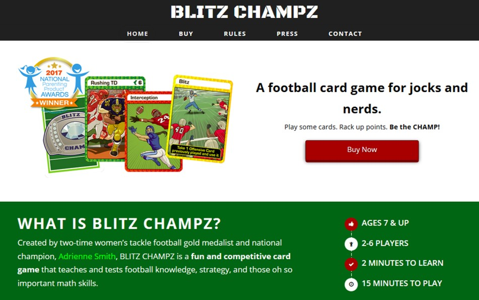 Blitz Champz website
